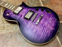 NEW ESP LTD EC256FM STPSB Trans Purple Sunburst Flame Top Electric Guitar #ESP