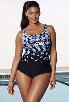 28e225106a Chlorine Resistant Exploded Floral Sport Swimsuit