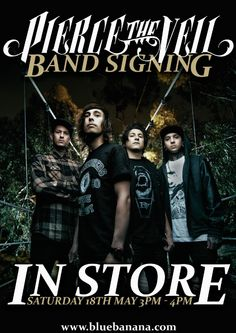 We are very pleased to announce that Pierce The Veil will be in our Bristol store for an exclusive signing on Saturday 18th May at 3pm.  The band will be in our Bristol store from 3pm-4pm signing all of your band merch so make sure you head down and meet the band.   We have 90 lanyards that can be picked up from the Bristol store. 10 more lanyards will be used in an online competition closer to the time so watch this space.