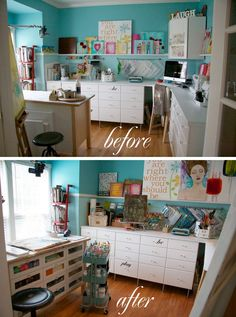 Before and After of Donna Downey Home Studio