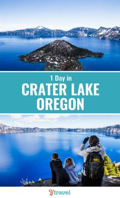 When you visit Oregon, don't miss Crater Lake National Park. Check out this 1 day guide on what to do at Crater Lake, on of the most beautiful USA national parks. #Oregon #CraterLake #nationalparks #travel Us West Coast, West Coast Road Trip, Road Trip Usa, Cool Places To Visit, Places To Go, Great Vacations, Family Vacations, Crater Lake Oregon, 1 Day Trip