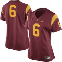 e4905ea3131 No. 6 USC Trojans Nike Women's Game Replica Football Jersey - Cardinal