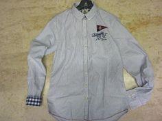 Collezione estate  Gaastra camicia in cotone con polsini e collo rivestiti  taglie dalla  media alle 2xl