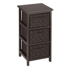 Honey-Can-Do 3-Drawer Storage Table, Espresso
