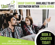 Miles of smiles. Enjoy the comfort of our professional charter services. Whether it is for business or leisure, we can get you and your group to your destination, safe and sound. Book your charter trip with Limetime Shuttle Service today! Request a quote by emailing us on bookings@limetimeshuttle.co.za or by contacting us on 087 094 9444 for more information. #limetimeshuttle #charterservice #booknow