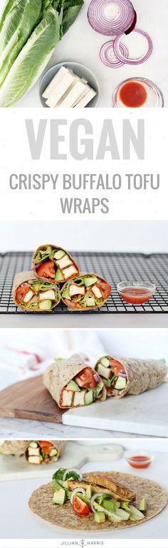 My recipe for my favourite Vegan Crispy Buffalo Tofu Wraps is now on the blog!