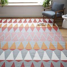 Playroom rug: Margo Selby Zigzag Stripe Kilim Rug // West Elm