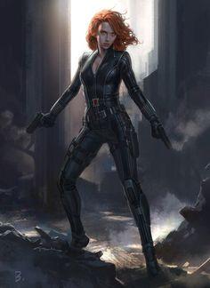 Captain America: Civil War Character Concept Art: Black Widow - Andy Park