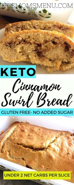 Spiced Pecan Muffins This recipe for keto cinnamon swirl bread, brings all the cinnamon goodness of traditional cinnamon bread with less then 2 net carbs per serving! Low Carb Bread, Keto Bread, Low Carb Keto, Bread Carbs, Bread Baking, Low Carb Sweets, Low Carb Desserts, Low Carb Recipes, Desserts Menu