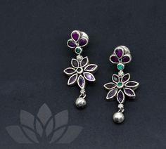 925 Silver by PraDe       #PraDeJewels #925silver #24kGoldplated #mangtika #kada #Earrings #Neckpiece #Rings #Nosepin #kemp #kundan  #kemphoops #guttapusalu #pearls #coral #silverjewelry #silver #fashion #fashiongoals #indianblogger #uniquejewelry #instagood #jewelgram #handmadejewellery #uniquejewelry #bridesmaids #buyhandmade #SouthIndianbride #southAsianbride #hindubride #telugubride #bridesofindia #bridalinspo #bridalinspiration #weddingaccessories #teluguwedding #weddingideas Fancy Jewellery, Silver Jewellery Indian, Silver Jewelry, Sterling Silver Bracelets, Silver Earrings, Stud Earrings, Gold Ornaments, Neck Piece, Handmade Jewelry