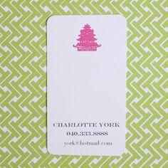 Pagoda Calling Cards (20). $18.00, via Etsy.