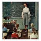 """""""Happy Birthday Miss Jones"""" painted by Norman Rockwell (c. 3/17/1956)."""