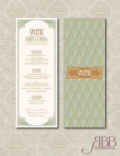 Art Deco Printable Wedding Table Set - Art Deco wedding menu-Wedding table numbers-Wedding place cards on Etsy, $30.00