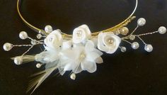 Handmade Tiara Headband - Flowers and Sparkles, available now on etsy