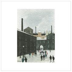 The Mill Yard – (Coloured) Milling, Gw, Acrylic Art, Industrial, Yard, Artists, Gallery, Artwork, Color