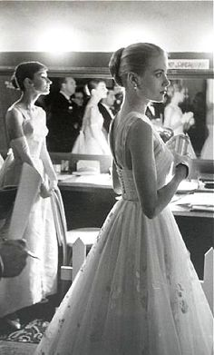 Grace Kelly & Audrey Hepburn. I read a biography on Grace Kelly and when I saw this picture, I got the idea on my head that they didn't like each other. Then I saw a picture at the same angle where they're laughing about something. I have no idea why I thought they didn't like each other.