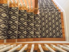 Do you think your stair and hall runners have to match? Find out here! Entry Stairs, Entry Hall, Hall Runner, Rug Runner, Home Carpet, Rugs On Carpet, Hallway Pictures, Entryway Rug, Maine House