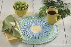 Carpeta para mesa ,tejido crochet , manualidades Aide