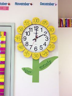 Classroom flower clock to help learn time