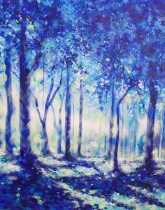 ARTFINDER: Moonlight through trees by Marc Todd -