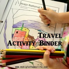 How I made a travel activity binder to entertain my daughter during flights and road trips