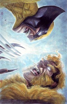 Wolverine vs Sabretooth by Ed Tadeo