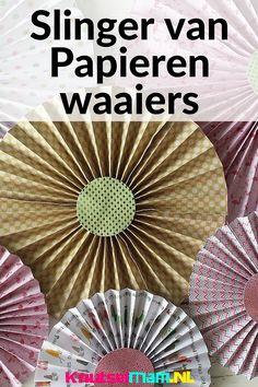 slinger van papieren waaiers KnutselMam.NL