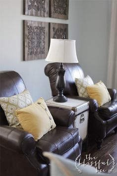 Living Room with two recliners & two couches | Home Inspiration ...