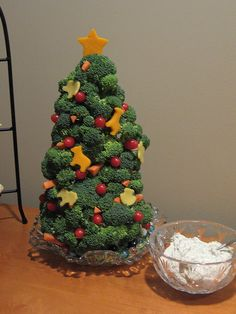 Christmas trees - broccoli - who knew.  I'll leave off the animals, and maybe use little stars.