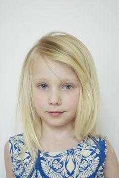 little girl hair, no bangs