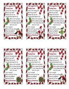 *Freebie* Legend of the Candy Cane (preschool christmas treats) Candy Cane Poem, Candy Cane Story, Candy Cane Crafts, Candy Cane Ornament, Candy Canes, Meaning Of Candy Cane, A Christmas Story, Christmas Tag, Christmas Treats