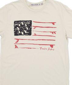 INR Freedom Flag T-Shirt : Iron & Resin