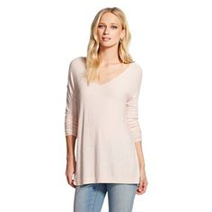 Women's Pullover Sweater Light Pink - Mossimo