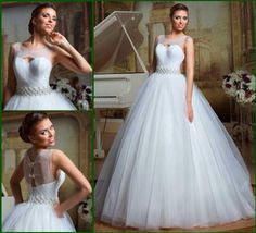 Glamorous and charming ball gown wedding dress! So pretty!