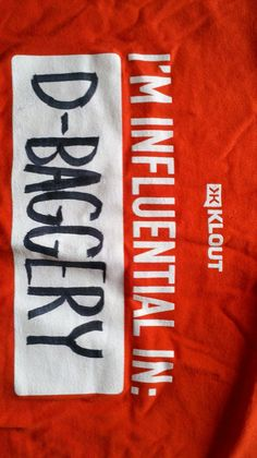 Modifications to Klout's t-shirts.