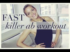 FAST KILLER AB WORKOUT! Flat belly workout - YouTube