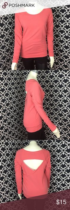 """🆕LISTING Orange Sweatshirt/Saks Wore once. Perfect condition. 26.5"""" long, 20"""" PTP. Pair with workout pants. 96% supima, 4% Lycra 59 Tops Sweatshirts & Hoodies"""