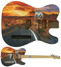 Route 66. http://www.gorgelous.com/mag/2013/11/24/telecaster-route-66-making-of/