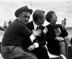 empirealism:  Federico Fellini, Marcello Mastroianni and Sophia Loren