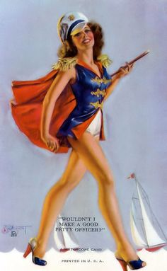 Patriotic Zoe Mozert Mutoscope Card Navy Pin-Up Makes a Good Petty Officer Marilyn Monroe, Art Pictures, Photos, Olivia De Berardinis, Rolf Armstrong, Earl Moran, Celebrities Then And Now, Female Celebrities, Photo Vintage