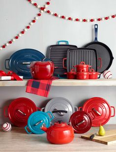Cast iron cookware comes in different shapes, versatile sizes & fun colors. They make great holiday gifts for everyone on your list! Funky Fonts, Cast Iron Cookware, Different Shapes, Kitchenware, Are You Happy, Holiday Gifts, Goodies, Kitchen Things, Make It Yourself