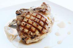 Maple Brined Pork Chop / @DJ Foodie / DJFoodie.com