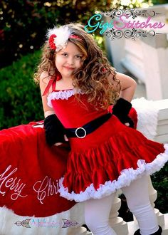 Santa Dress - Christmas Pettidress- Chrismas Flower Girl Dress Mrs Claus Dress- Red Pettidress- Chrismas Dress on Etsy, $42.95
