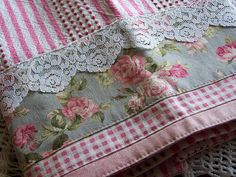 Shabby Chic Victorian Dreams- pink, white and grey theme towel.