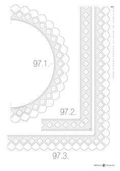 Archivo de álbumes Bobbin Lace Patterns, Embroidery Patterns, Bobbin Lacemaking, Parchment Craft, Borders And Frames, Lace Making, Tatting, Projects To Try, Design Inspiration