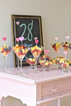 Outdoor Brunch Bridal Shower Fruit Martini Cups on Engaged and Inspired