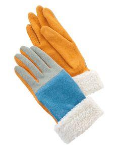 Morningside Handschuhe gruen gelb