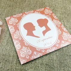Invitaţie de nuntă Cameo peach http://designbyclarice.ro/