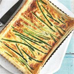 Asparagus and spring onion tart