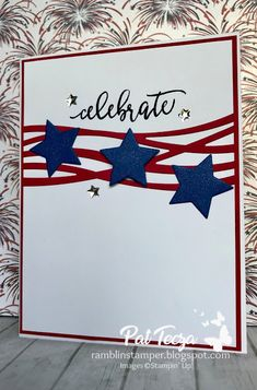 Ramblin' Stamper: Clean and Simple Patriotic Card Holiday Cards, Christmas Cards, Military Cards, Star Cards, Stamping Up Cards, Bird Cards, Watercolor Cards, Scrapbook Cards, Scrapbooking